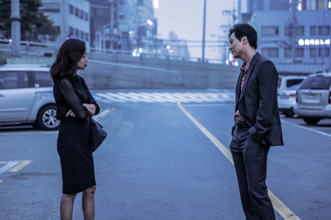 "Jeon Do-yeon and Kim Nam-gil in ""The Shameless"" (CGV Arthouse)"