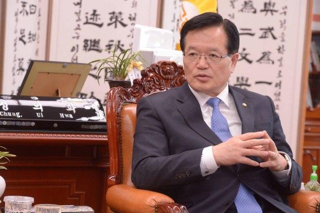 Assembly Speaker Chung Ui-hwa. (Chung Hee-cho/The Korea Herald)