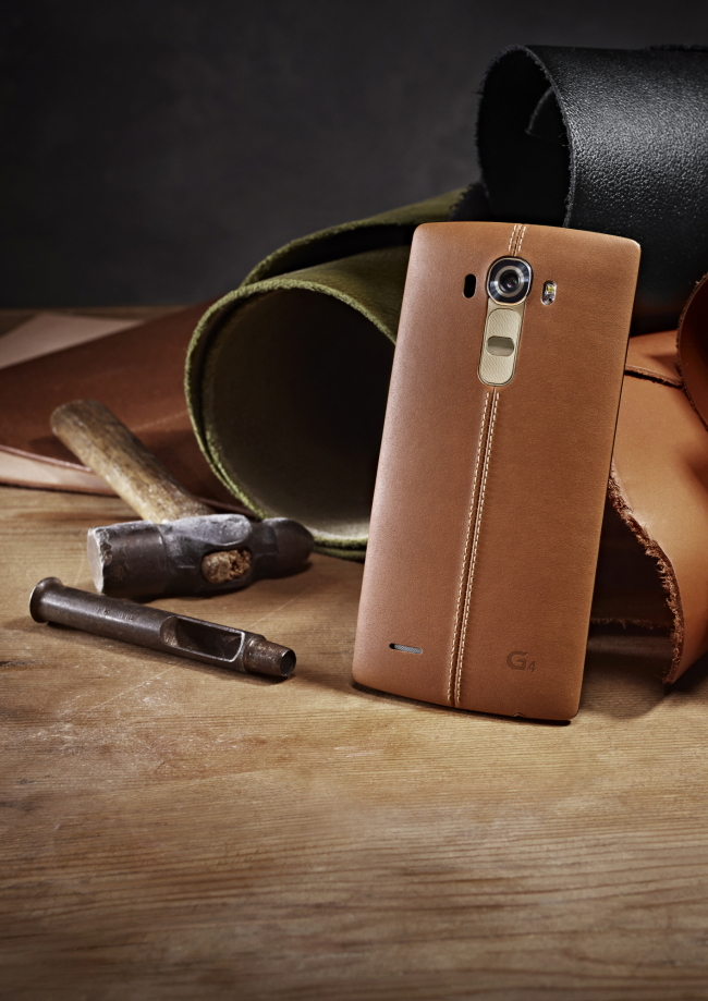 LG Electronics' leather-clad G4 is set to make its official debut on Wednesday. (LG Group)