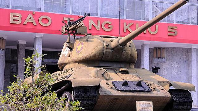 An old tank at an army museum in Da Nang. (The Straits Times)