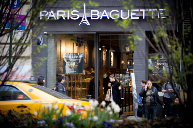 SPC Group said Wednesday that its bakery chain Paris Baguette has opened its sixth Manhattan store on Park Avenue 23rd street. (SPC Group)