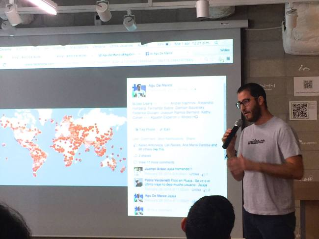 Agu De Marco, CEO of Argentina-based start-up Wideo, speaks at Startup Alliance in southern Seoul last month. (Wideo)