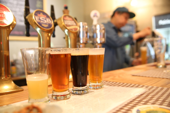 Craft One, a craft beer pub located in Yeonnam-dong (Bae Hyun-jung/The Korea Herald)