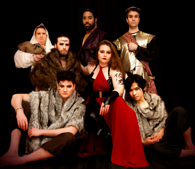 """The Roman (left) and Goth clans from Seoul Shakespeare's upcoming production of """"Titus Andronicus."""" (Jorge Toro, My Seoul Photography)"""
