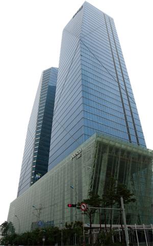 Headquarters of POSCO E&C in Songdo, Incheon