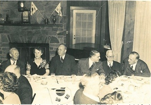 Directors of the U.S.-Korea Conference gathered in Ashland, Ohio, in 1942, in a campaign to gain the approval of the Korean Provisional Government from the U.S.