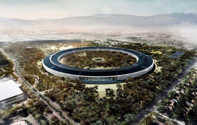 "Artist's rendition of ""Apple Campus 2"" in Cupertino, California"