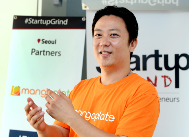 MangoPlate chief Joon Oh, organizer of Startup Grind's Seoul chapter, poses during an interview with The Korea Herald in Seoul last week. Park Hyun-koo/The Korea Herald