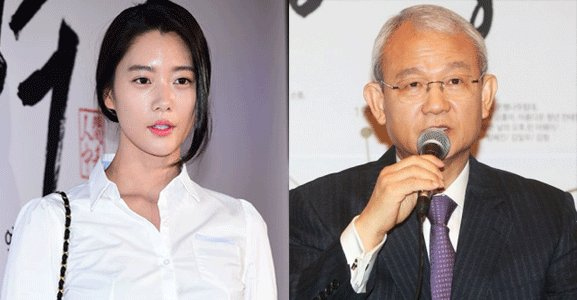 Actress Clara and Lee Gyu-tae, the chairman of her former agency Polaris Entertainment. (OSEN, Yonhap)