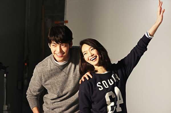 Kim Woo-bin (left) and Shin Min-a (Giordano)