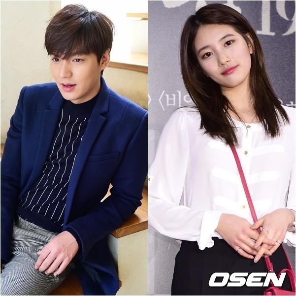 Lee Min-ho (left) and Suzy (OSEN)
