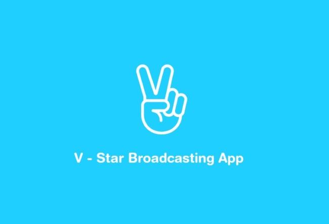 """Naver's""""V"""" app logo.(Naver)"""