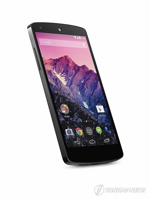 Google's Nexus 5 smartphone developed by LG Electronics (Yonhap)