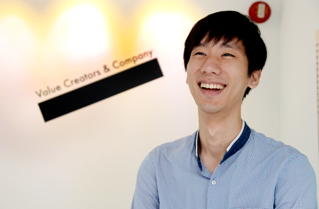 Jake Park, CEO of VCNC, poses before an interview with The Korea Herald on Friday. (Park Hyun-koo/The Korea Herald)