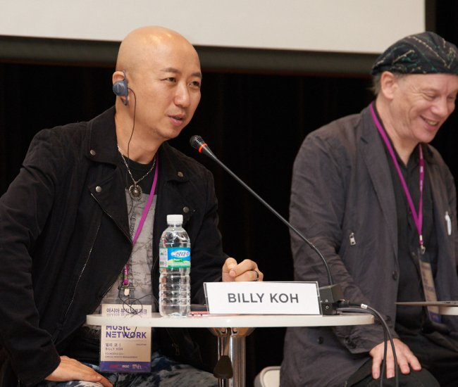 Amusic Rights Entertainment CEO Billy Koh (left), Billboard Tokyo bureau chief Rob Schwartz (Asia Music Network)
