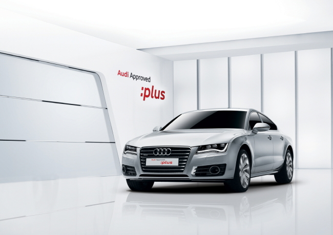 A certified Audi preowned car