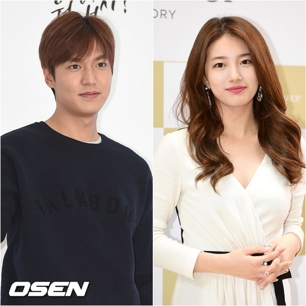 Lee Min-ho (left) and Suzy (OSEN)