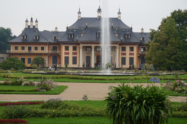 The hillside place at Pillnitz Palace and Park, with Asian influences (Won Ho-jung/The Korea Herald)