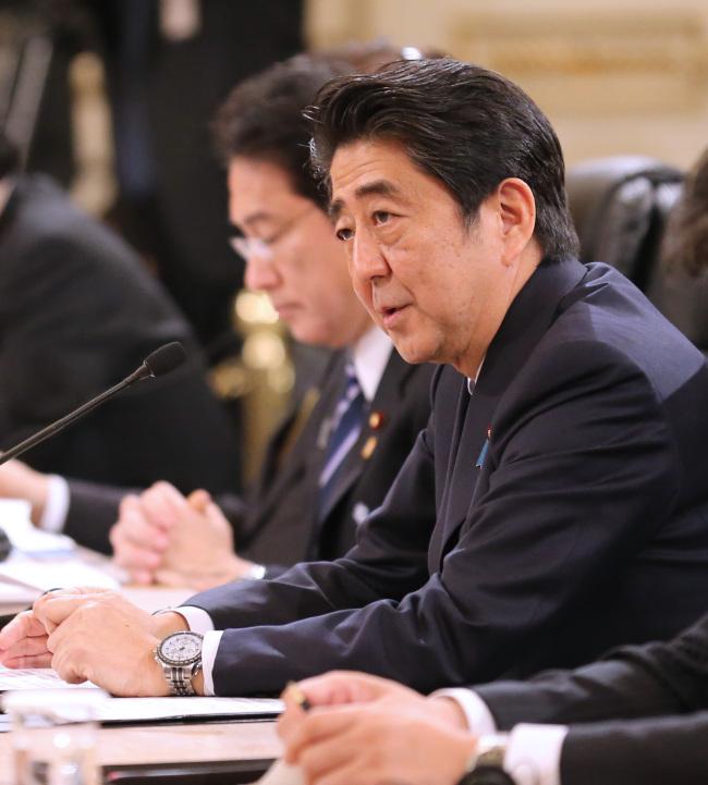 Japanese Prime Minister Shinzo Abe. (Yonhap)