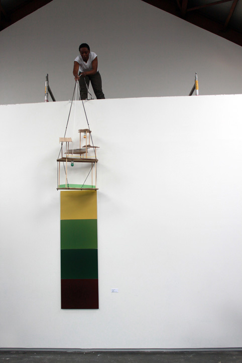 """A performance scene as part of the """"Tropicology"""" series by Otobong Nkanga (Artist's official website)"""