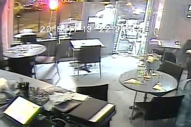 CCTV footage from attacked restaurants. (Youtube)
