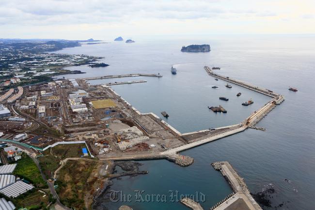 Jeju naval base (Yonhap)