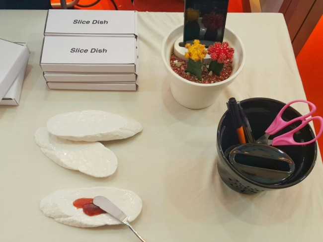 Kitchenware and stationery items made by Verb Design (Sohn Ji-young/The Korea Herald)