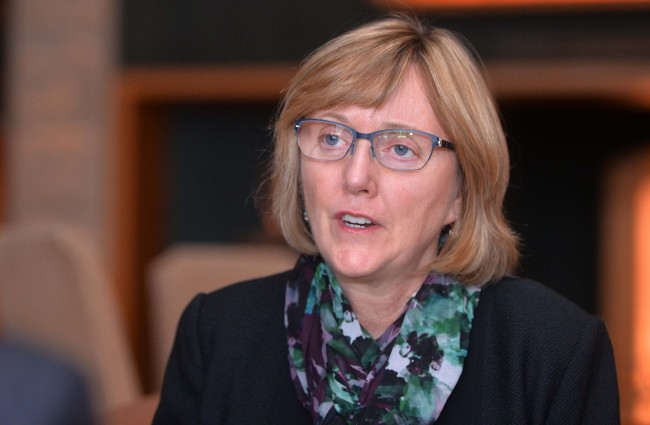 Smith College president Kathleen McCartney. (Lee Sang-sub/The Korea Herald)