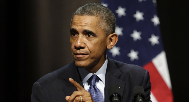 U.S. President Barack Obama will urge Americans not to give into fear following attacks in Paris and California in a rare oval office address on Sunday night (AP)