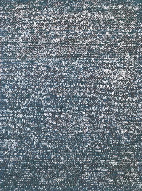 """""""Where, in What Form, Shall We Meet Again, 16-IV-70 #166"""" by Kim Whanki (Gallery Hyundai)"""