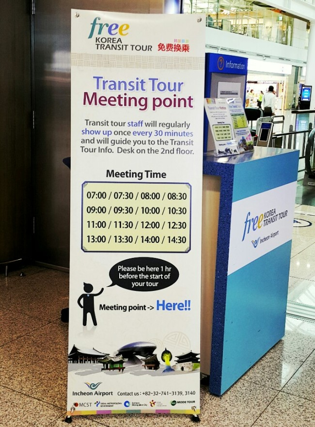 Free Transit Tour info desks are located in several locations throughout the passenger terminal (Sohn Ji-young/The Korea Herald)
