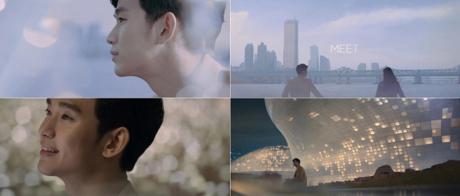 Screenshots of Kim Soo-hyun's promotional video for the Seoul Metropolitan Government (Keyeast Entertainment)