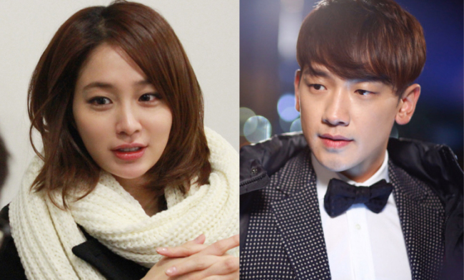 (Left) Lee Min-jung (MSteam Entertainment), Rain in the 2014 Chinese TV series