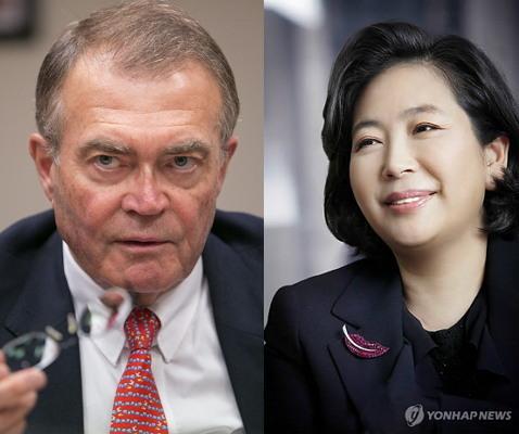 Schindler Holding AG chairman Alfred Schindler (Bloomberg) and Hyundai Group chairwoman Hyun Jeong-eun (Yonhap)