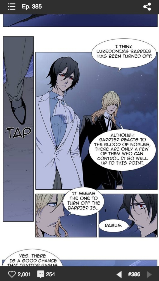 "A cut from ""Noblesse"" from Naver's Line Webtoon for China and Southeast Asian markets (Naver)"