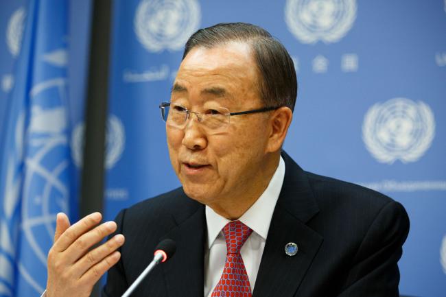 U.N. Secretary-General Ban Ki-moon (Xinhua-Yonhap)