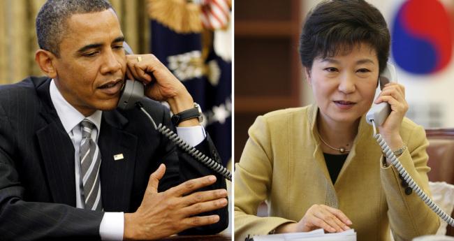 U.S. President Barack Obama and South Korean President Park Geun-hye (Yonhap)
