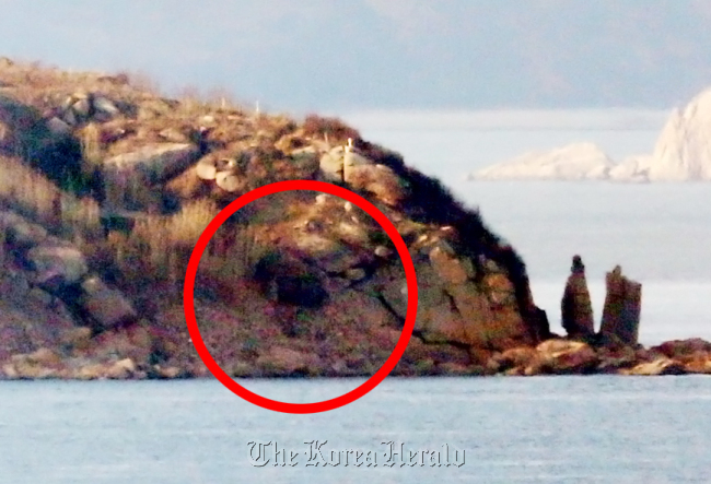 A gunpost is open at a North Korean border island in the West Sea on Friday. (Yonhap)