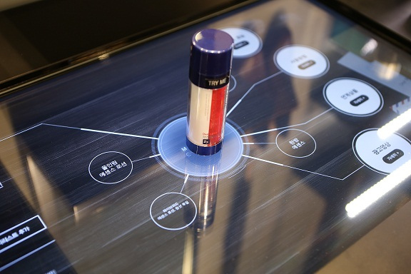 "A digital skin care bar at an Aritaum ""Omni-store"" (AmorePacific)"