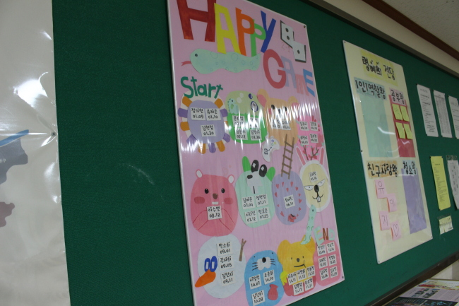 Birthdays of all students from class 3 of second-year Danwon School students are displayed in this class project. (Yoon Min-sik/The Korea Herald)