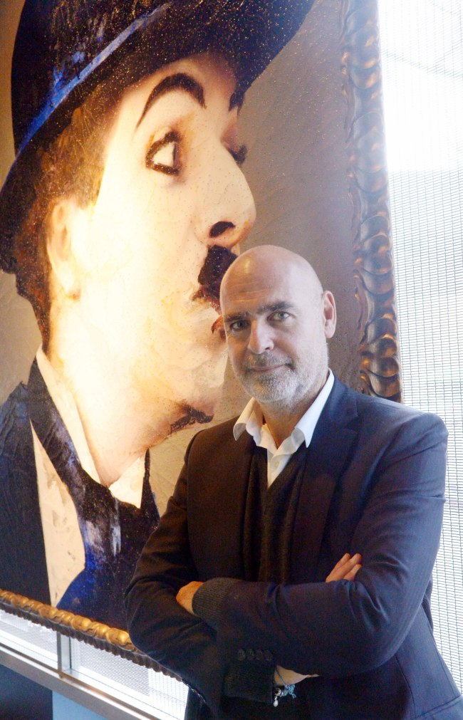 Gilles Dyan, chairman of the Opera Gallery Group, poses at the Opera Gallery Seoul on Monday. (Chung Hee-jo/The Korea Herald)