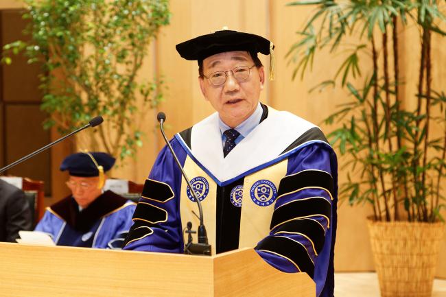 Yonsei University president Kim Yong-hak