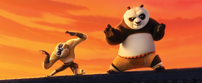 "American-Chinese animation ""Kung Fu Panda 3."" (DreamWorks Animation)"