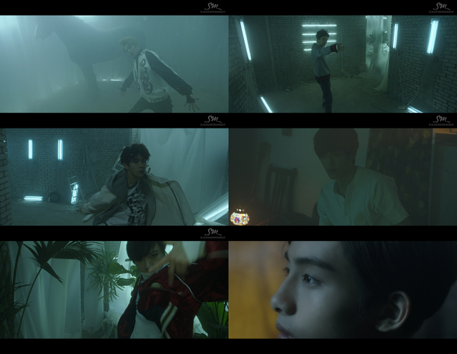 Stills from the teaser video for upcoming S.M. boy band NCT (S.M. Entertainment)