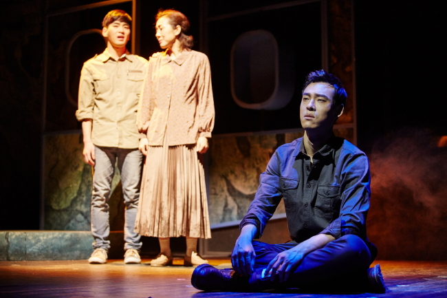 "A scene from director Kolleen Park's lastest musical production, ""Airport Baby,"" which is being staged until March 6 at the Art One Theater in Daehangno, Seoul. (Seensee Company)"