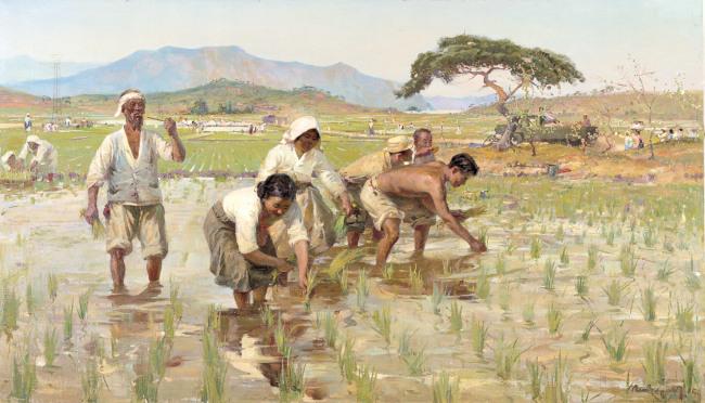 """Planting Rice"" by Pen Varlen (MMCA)"