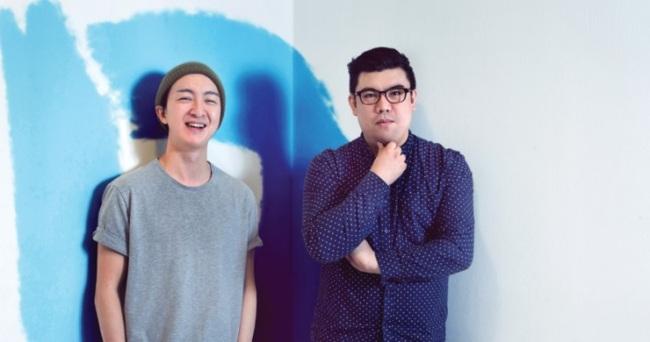 K-pop music video directors Seong Won-mo (left) and Park Sang-woo. (Digipedi)