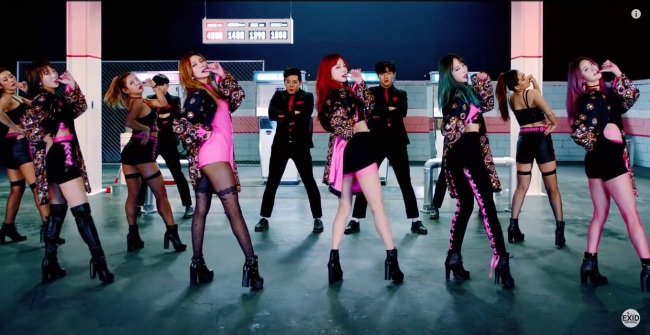 """Girl group EXID's music video """"Hot Pink"""" (Yedang Entertainment)"""