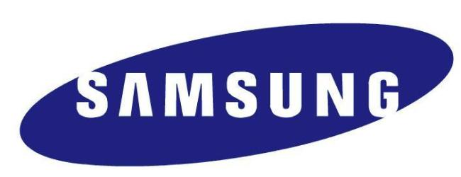 The logo of Samsung Group.