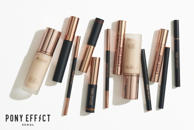 Cosmetic products Pony Effect launched by Pony in November 2015 (Pony)